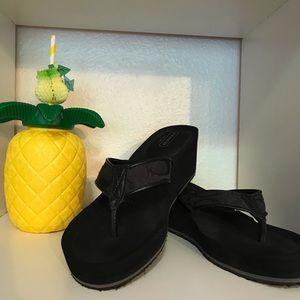 Coach Jaicee Black Wedges Sandals
